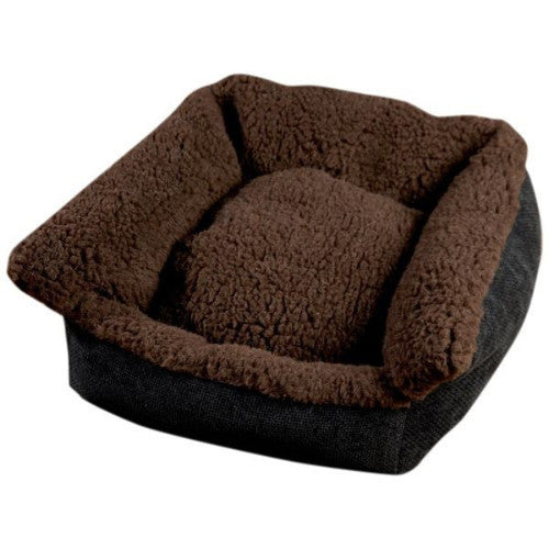 Senior Gold Cosy Dog Bed - Brown