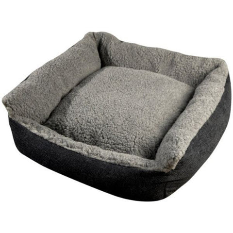 Senior Gold Cosy Dog Bed - Grey