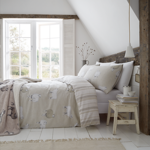 Catherine Lansfield Brushed Cotton Sheep Duvet Set - PRE ORDER - NEW DESIGN -