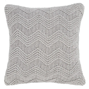 Soft Knit Cushion Cover Grey - 100% Cotton