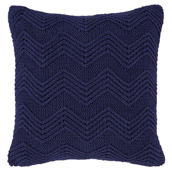 Bianca Soft Knit Cushion Cover Navy - 100% Cotton