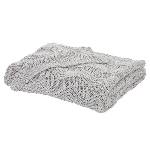 Bianca Soft Knit Throw Grey - 100% Cotton