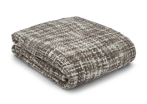 Catherine Lansfield Tonal Weave Throw - Natural