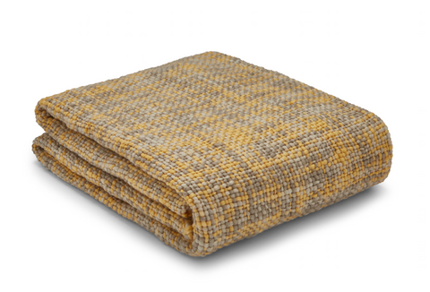 Catherine Lansfield Tonal Weave Throw - Ochre