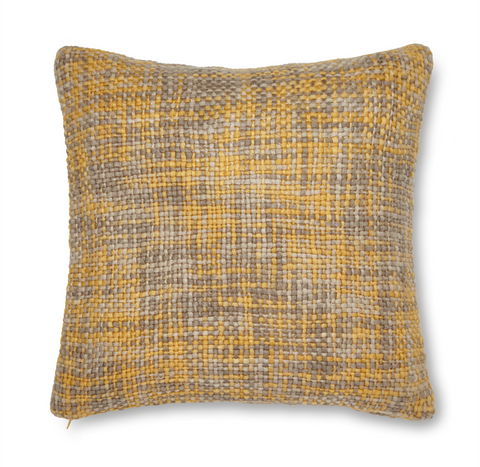 Catherine Lansfield Tonal Weave Cushion Cover - Ochre
