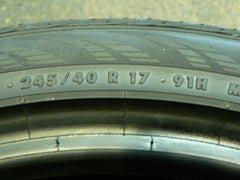 245/40/R17 Used Tires as Low as $45