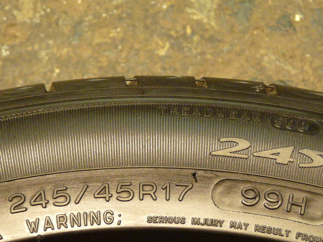 245/45/R17 Used Tires as Low as $45