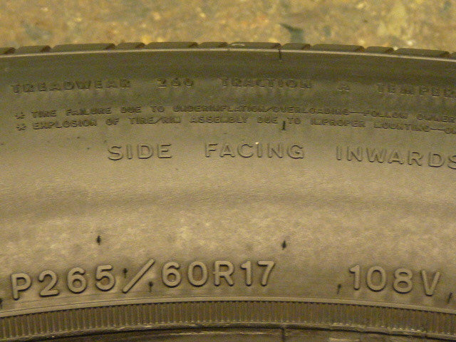 265/60/R17 Used Tires as Low as $45
