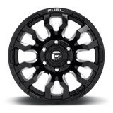 Fuel Blitz D674 20x10 -18 6x139.7 (6x5.5) Gloss Black and Milled