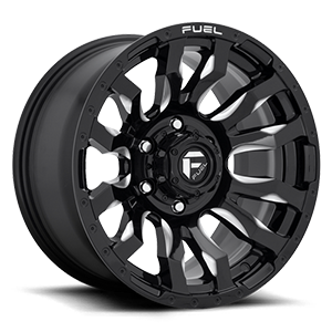 Fuel Blitz D673 22x12 -44 8x180 Black and Milled