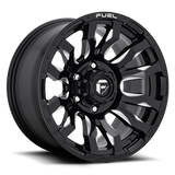 Fuel Blitz D673 17x9 -12 8x170 Black and Milled