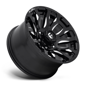 Fuel Blitz D673 18x9 -12 8x170 Black and Milled