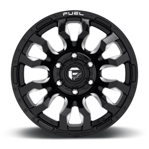 Fuel Blitz D673 17x9 -12 8x180 Black and Milled
