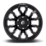 Fuel Blitz D673 22x12 -44 8x170 Black and Milled