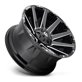 Fuel Contra D615 18x9 -12 6x135/6x139.7(6x5.5) Gloss Black and Milled