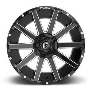 Fuel Contra D615 24x14 -75 5x127(5x5)/5x139.7(5x5.5) Gloss Black and Milled