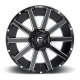 Fuel Contra D615 24x12 -44 5x127(5x5)/5x139.7(5x5.5) Gloss Black and Milled