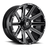 Fuel Contra D615 22x12 -44 8x180 Gloss Black and Milled