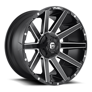 Fuel D616 Contra 22x12 Matte Black and Milled