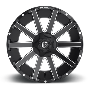 Fuel Contra D616 22x10 -18 8x180 Matte Black and Milled