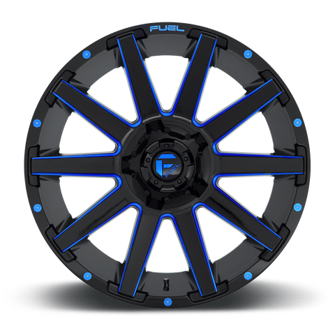Fuel Contra D644 22x10 -18 8x180 Candy Blue