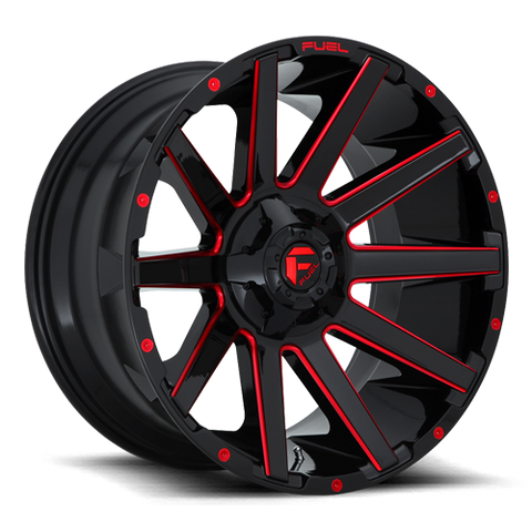 Fuel Contra D643 22x10 -18 8x165.1(8x6.5) Candy Red