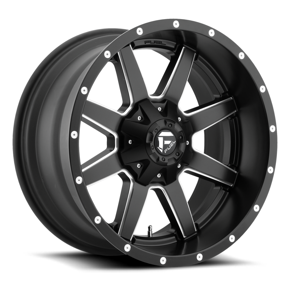 Fuel Maverick D538 24x12 Black and Milled