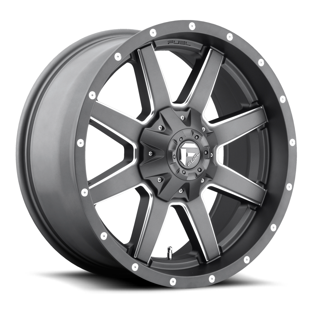 Fuel Maverick D542 20x10 Gray and Milled