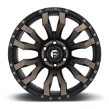 Fuel Blitz D674 18x9 -12 5x127(5x5) Black and Machined DDT