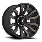 Fuel Blitz D674 17x9 1 5x150 Black and Machined DDT