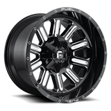 Fuel Hardline D620 17x9 -12 5x114.3(5x4.5)/5x127(5x5) Black and Milled