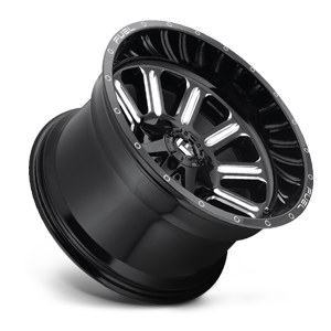 Fuel Hardline D620 22x12 -44 5x139.7(5x5.5)/5x150 Black and Milled