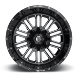 Fuel Hardline D620 18x9 1 8x180 Black and Milled