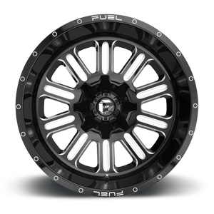Fuel Hardline D620 17x9 1 8x170 Black and Milled