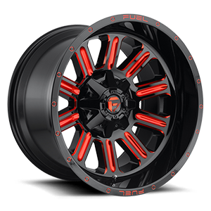 Fuel Hardline D621 15x8 -18 5x139.7(5x5.5) Candy Red