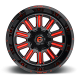 Fuel Hardline D621 18x9 -12 5x114.3(5x4.5)/5x127(5x5) Candy Red