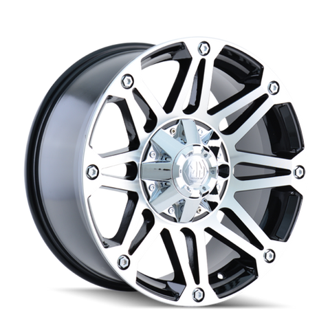 Mayhem 8010 Riot 17x8 10 8x180 Black and Machined