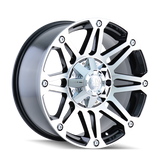 Mayhem 8010 Riot 17x8 10 5x127(5x5) Black and Machined
