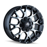 Mayhem 8015 Warrior 20x9 0 8x165.1(8x6.5)/8x170 Black and Machined