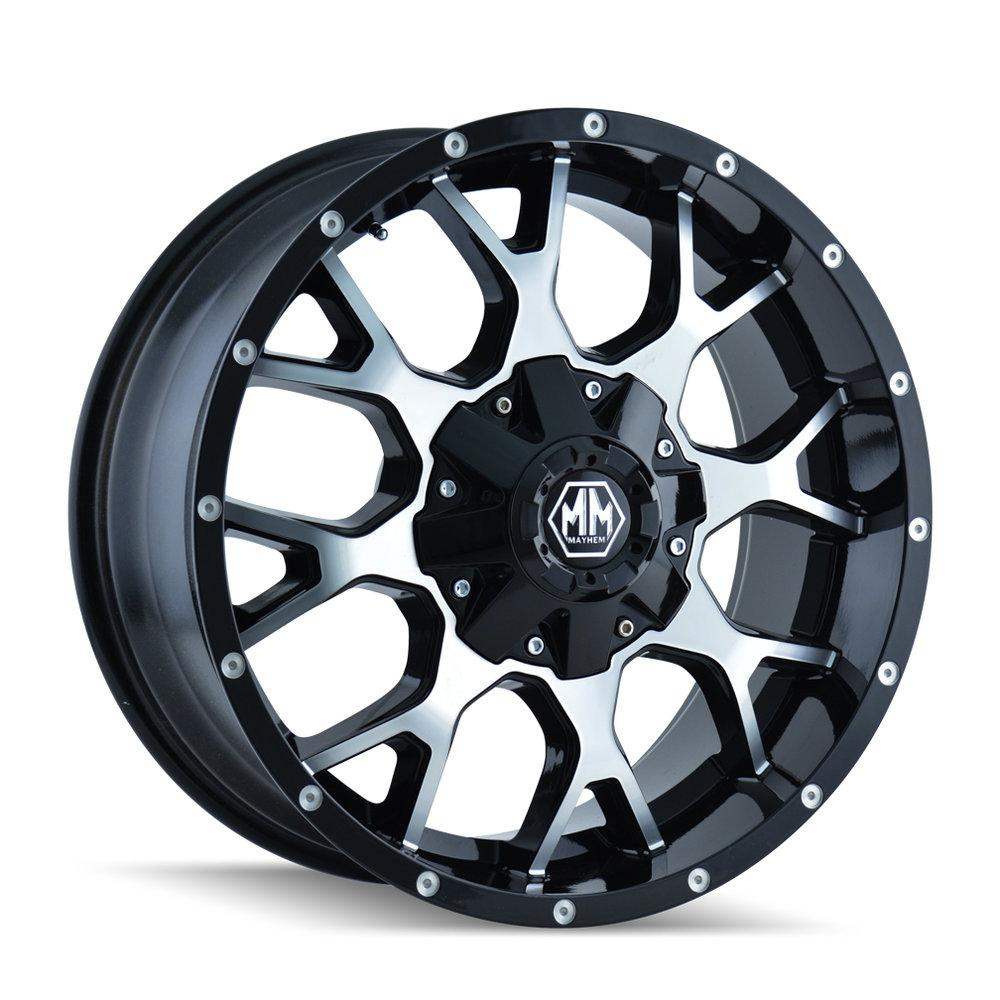 Mayhem 8015 Warrior 20x10 Black and Machined
