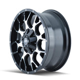 Mayhem 8015 Warrior 18x9 -12 8x180 Black and Machined