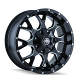 Mayhem 8015 Warrior 20x10 -25 8x165.1(8x6.5)/8x170 Black and Milled