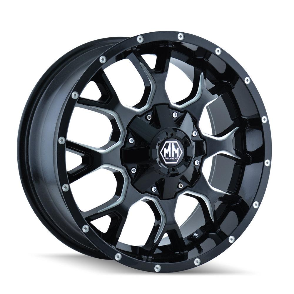 Mayhem 8015 Warrior 17x7.5 Black and Milled