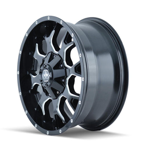 Mayhem 8015 Warrior 20x9 0 8x180 Black and Milled