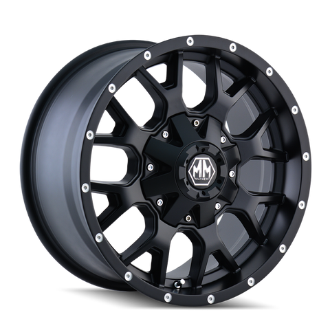 Mayhem 8015 Warrior 17x9 -12 8x165.1(8x6.5)/8x170 Matte Black