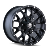 Mayhem 8015 Warrior 17x9 -12 6x135/6x139.7(6x5.5) Matte Black