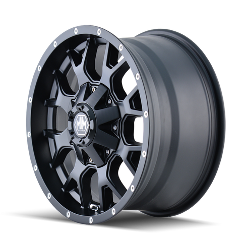 Mayhem 8015 Warrior 18x9 -12 8x180 Matte Black