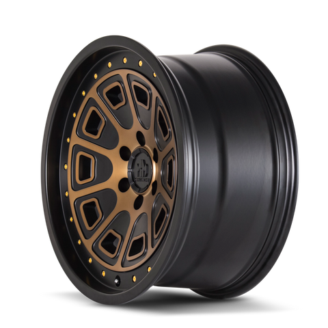 Mayhem 8301 Flat Iron 17x9 -6 6x139.7(6x5.5) Black and Brozne