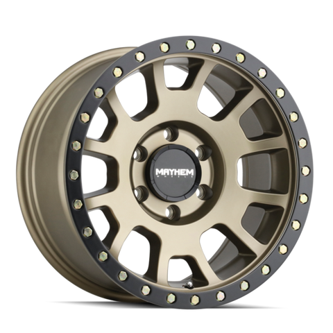 Mayhem 8302 Scout 18x9 0 8x165.1(8x6.5) Gold and Black