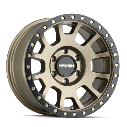 Mayhem 8302 Scout 18x9 Gold and Black